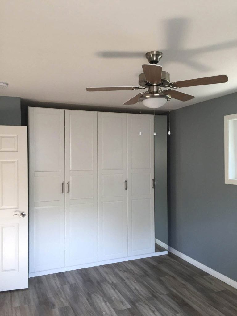 floor to ceiling cabinets in a newly renovated home