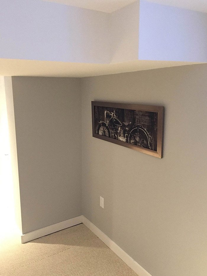 Newly complete basement renovation