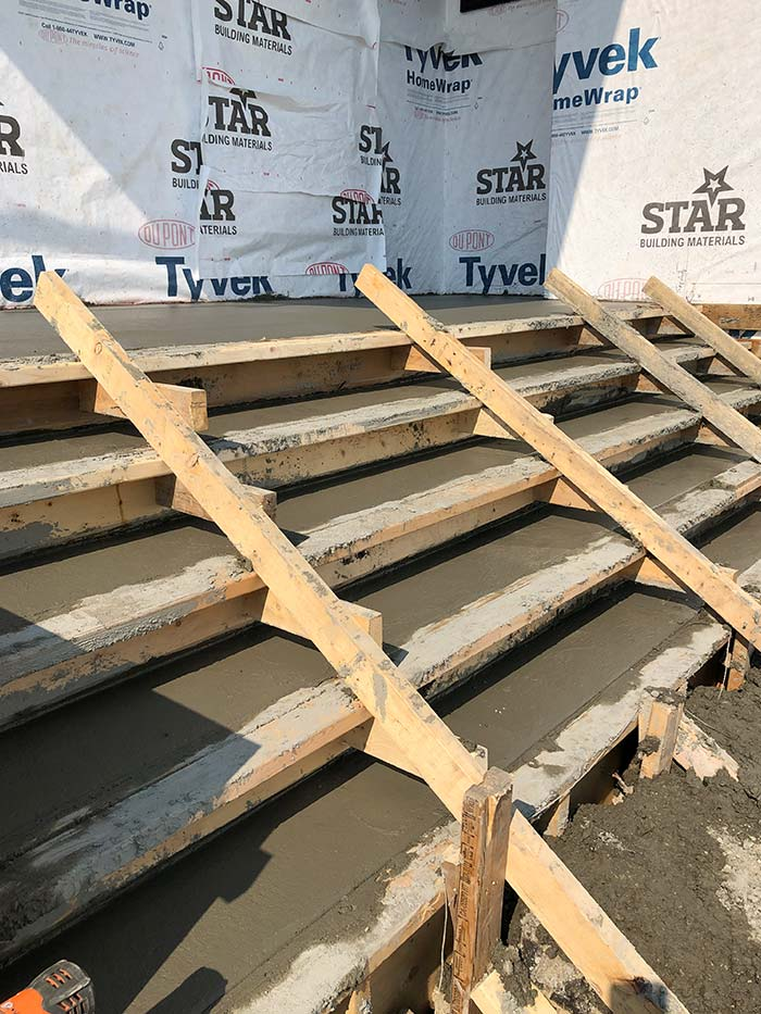 Custom concrete steps for commercial space