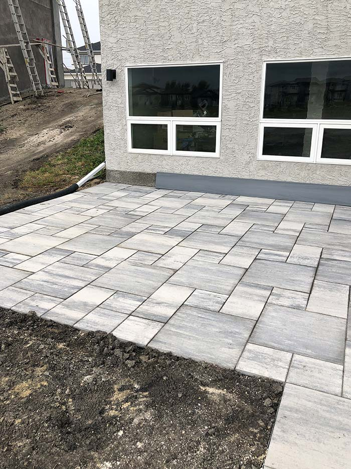 Expert interlock patio complete for new home